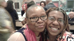 (letf to right) Lorraine Currelley, editor The Currelley Literary Journal and Carolyn Butts, editor African Voices Magazine